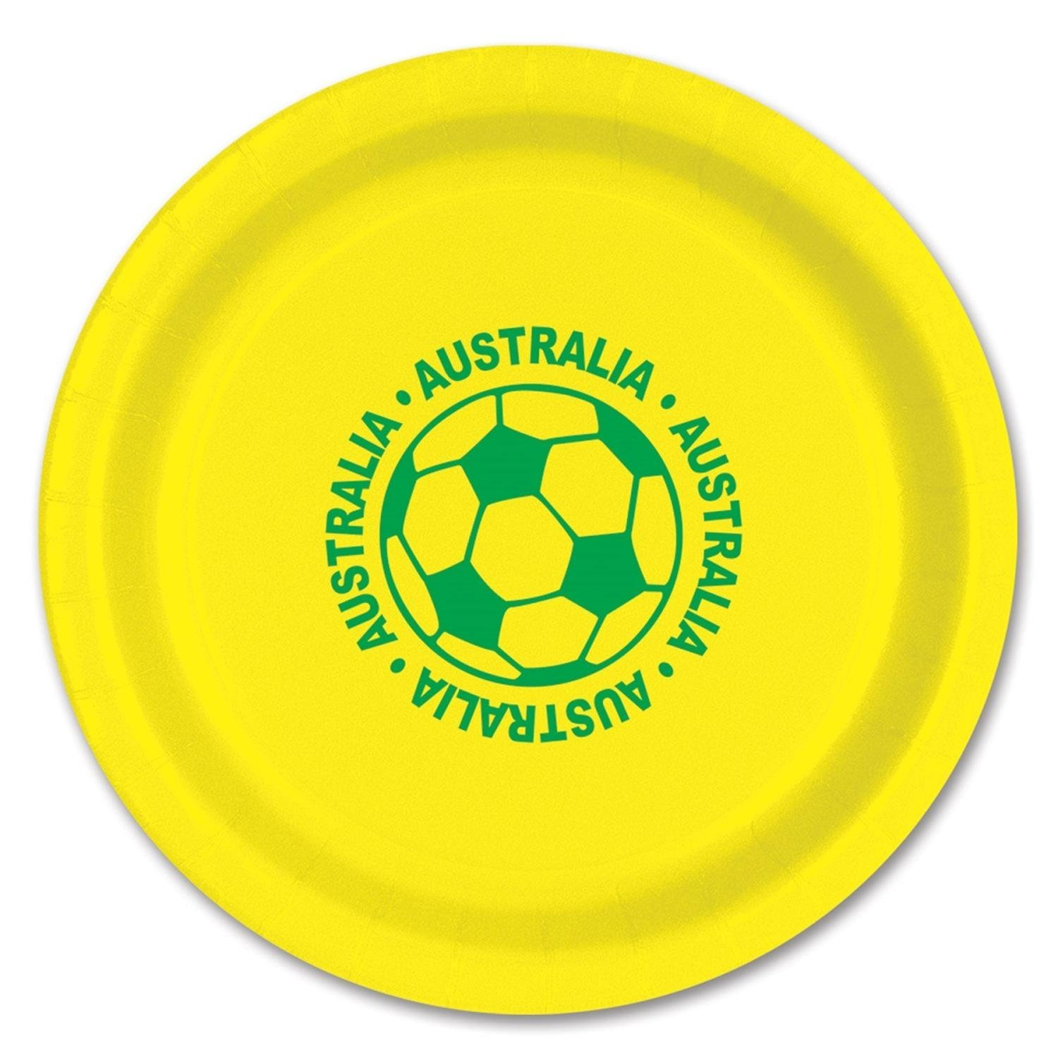 Club Pack of 96 Green and Yellow Disposable  Australia  Soccer Ball Paper Party Dinner  sc 1 st  Alibaba & Cheap Paper Plates Australia find Paper Plates Australia deals on ...