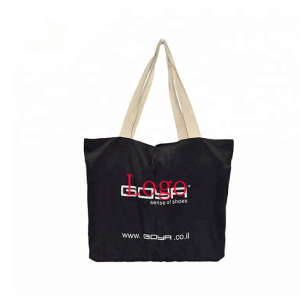 Yunico Logo Printed Trade Show Tote Promotional Cotton Canvas Bag For Gift