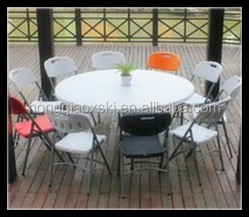 200cm Round Banquet Tables Whole 80inch Table Plastic Folding Dining