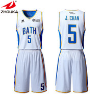Customize Your Own Plain White New Design Basketball Jerseys Youth Reversible Cheap Basketball Uniforms