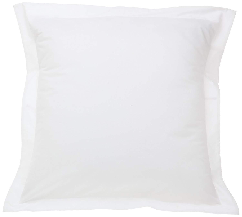 European Square Pillow Shams Set of 2 White 680 Thread Count 100% Egyptian Cotton pack Two Euro 26 x 26 Pillow shams Cushion Cover, Cases Decorative Pillow Cover Tailored Poplin European Pillow Sham