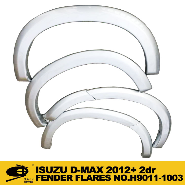 Car white matt black fender flares mould wheel cover with holds mould forISUZU DMAX D-MAX 2012 2017 2DR