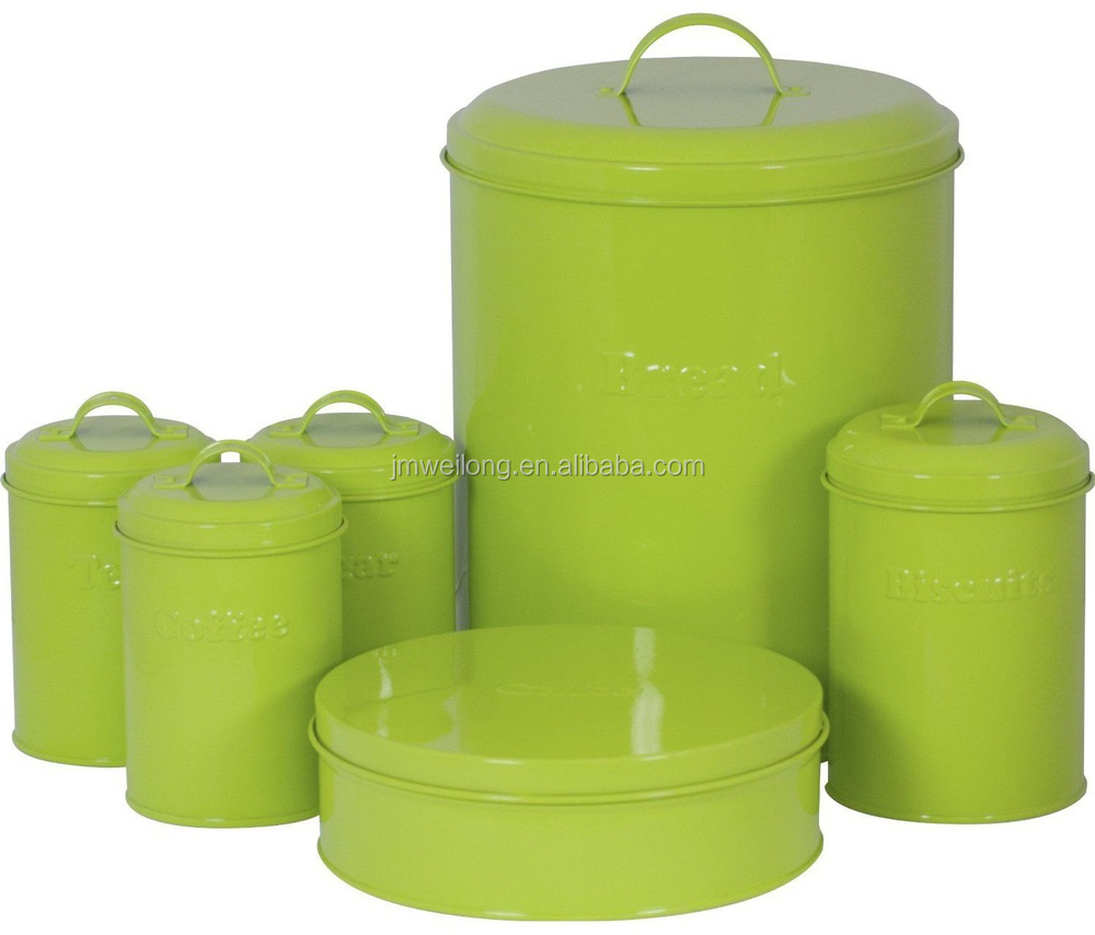 Lime Green Kitchen Canisters Metal Storage Box Kitchen Canister Bread Bin Jar Buy Metal