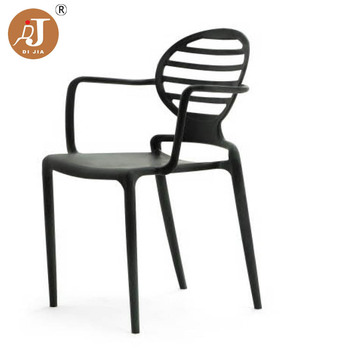 Excellent Modern Black Injected Solid Plastic Round Back Arm Chair Buy Plastic Chair Plastic Arm Chair Plastic Round Back Chair Product On Alibaba Com Uwap Interior Chair Design Uwaporg