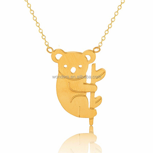 Stainless Koala Pendant Necklace For Teenage Girls Little Kids Christmas Birthday Gifts Jewellery