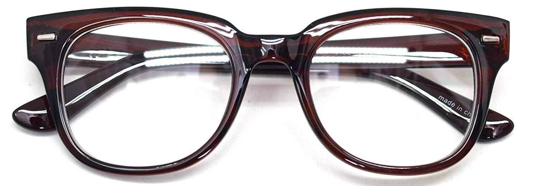 41352661875 Get Quotations · Nerd Geek Oversized Eye Glasses Horn Rim Retro Framed  Clear Lens Spectacles