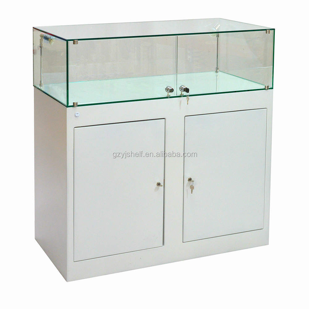 Customized Jewellery Window Display Living Room Showcase Design Lockable Glass Display Cabinets