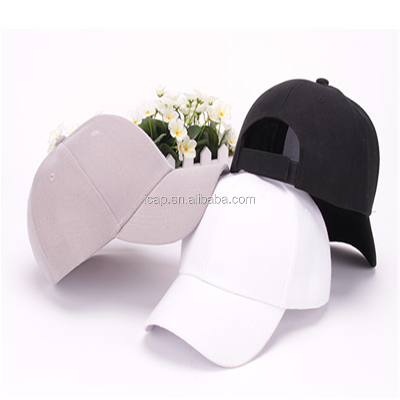 Solid female male and female lovers peaked cap sport baseball hat leisure summer sun hat