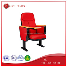 2017 auditorium conference chair with writing tablet