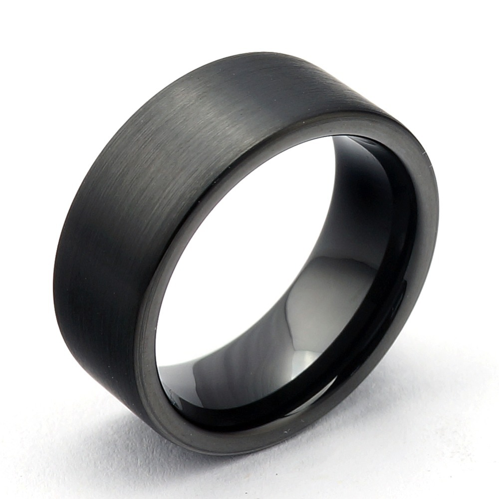 Fashion rings for women 2013 men Jewelry Black Plated tungsten ring Electroplate women Rings TRD-017 Size:5/6/7/8/9/10/11/12/13