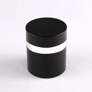 black cream 30ml airless plastic vacuum jar