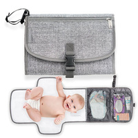 Portable Diaper Changing Pad Waterproof Travel Changing Pad Baby Diaper Changing Mat Foldable Changing Station with mesh/PVC po