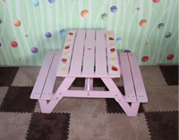 pink wooden long chair for garden furnture outdoor bench