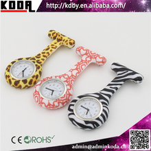 2017 New Printing Flowers Silicone Hanging Nurse Watch