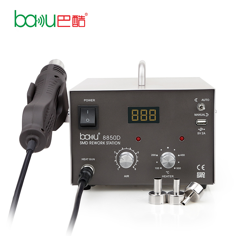 BAKU ba-8850D Nieuwe Product Mobiele Telefoon Bga Smd Hot Air Led Rework Station