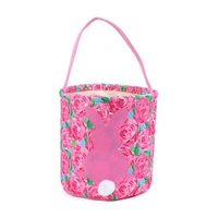 Fashion Monogrammed Hot Sale Lilly Inspired Easter Bunny Bucket Bag