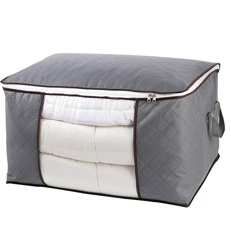 Large capacity quilt storage bag clear window Folding bag clothes blanket bedding storage bag organizer under bed storage