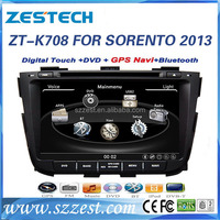 ZESTECH touch screen car dvd player for KIA SORENTO 2013 car audio stereo with 3g wifi TV bluetooth Steering Wheel Control