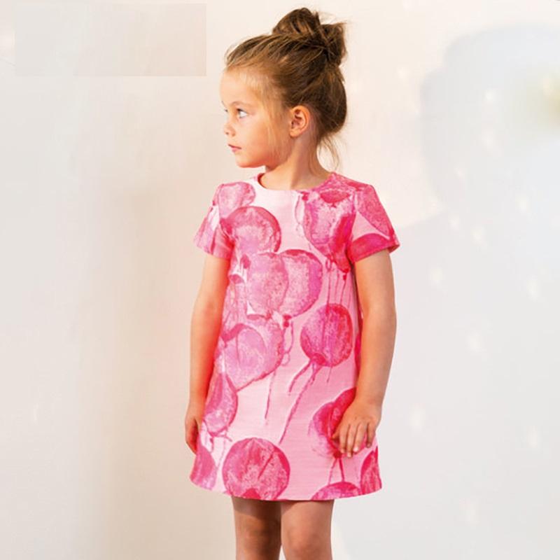bf190f394b73 Nuovo Fumetto di Estate Disegno di Petrolio Balloon Modello Carino Ragazze  Vestito Rosa di colore Del