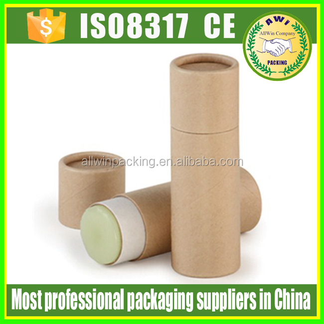 Recycled push up design lip balm tube eco friendly push up paper tube packaging for lip balm