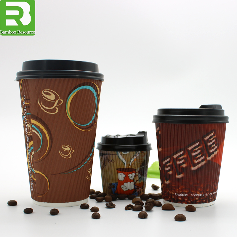16 oz Disposable Coffee Cups_16oz Double Wall Custom Print Coffee Cups_Paper Koffiekopjes voor warme dranken