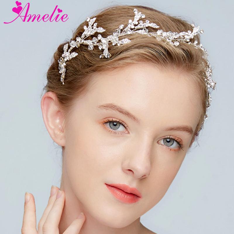 Handmade Wedding Hair Band Delicate Crystal Rhinestone Baby's Breath Vine Bridal Hair Accessory Bridal Headpiece Prom Halo
