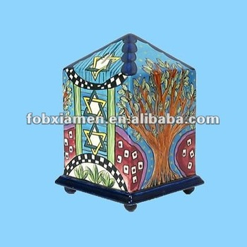 ceramic home decoration jerusalem tzedakah boxes