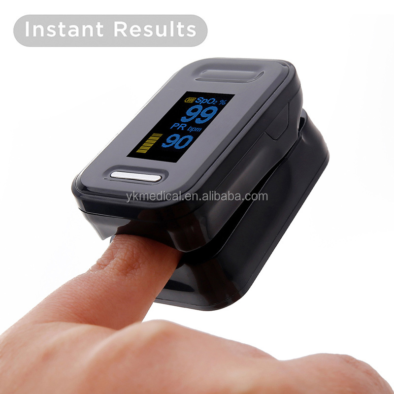 Acc U Rate Pro Fingertip Pulse Oximeter Blood Oxygen Saturation Monitor with silicon cover, batteries and lanyard