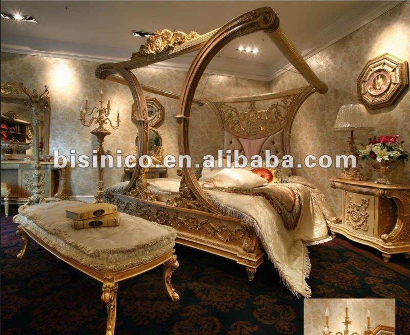 luxury french style bedroom furniture set, luxury french style