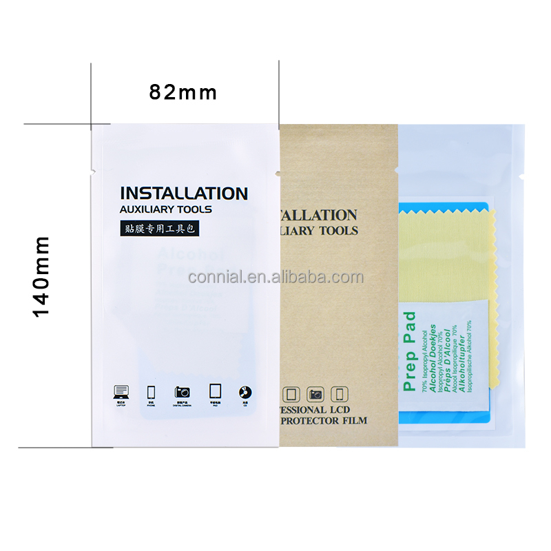 hot sale installation auxiliary tools tempered glass protector stickers kit