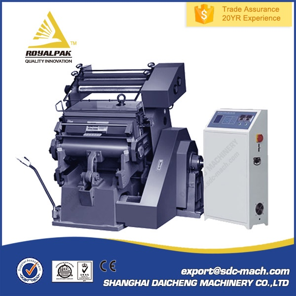 Promotional kraft paper bag hot stamp printing foiling machine