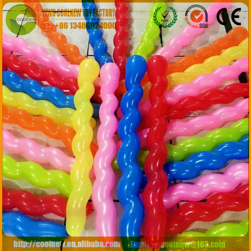 High Quality Screw Balloons, Sprial Shape Helium Latex Balloon, Very Long Design