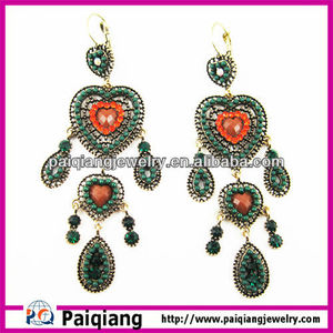 Daily wear fashion very long spanish temple earrings
