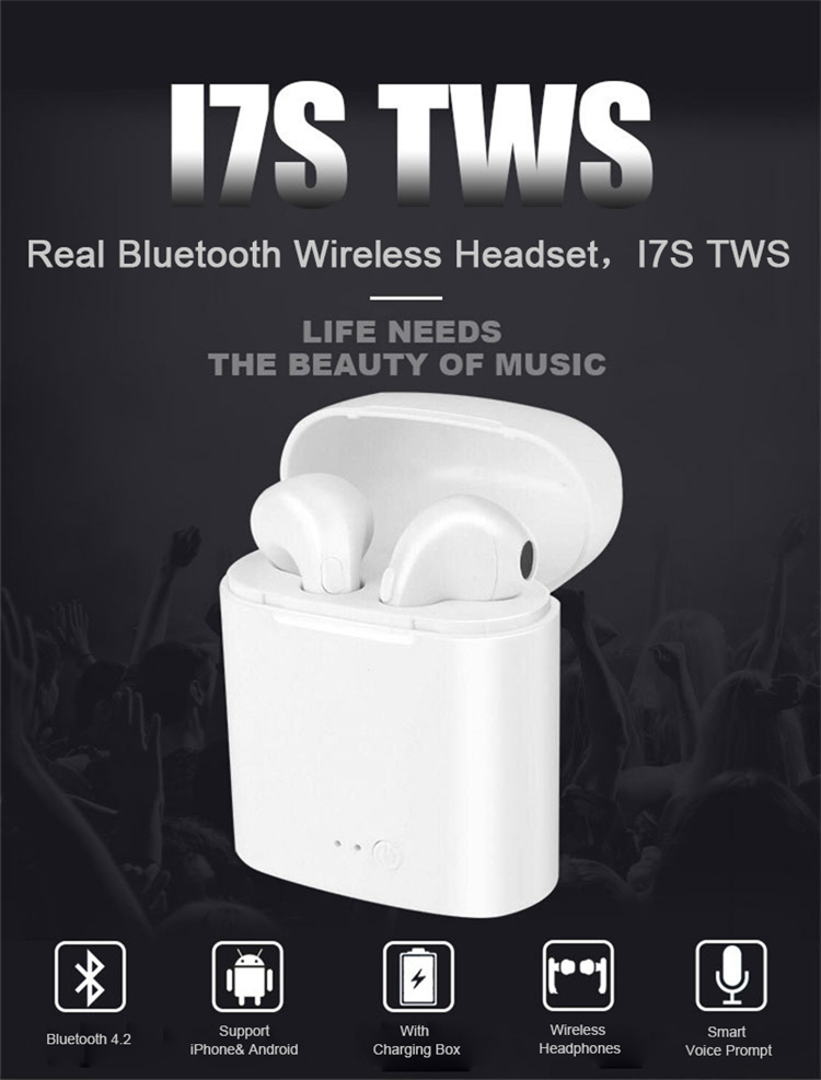 2017 New Bluetooth V.41+EDR intelligent voice calling music Wireless Bluetooth headset