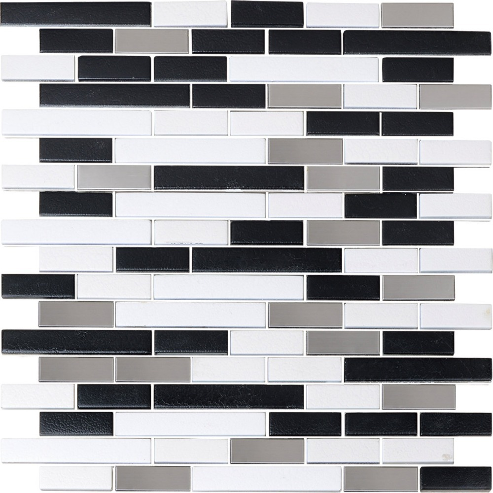 Nightclub Decoration Black And White Mosaic Tiles For Living Room ...