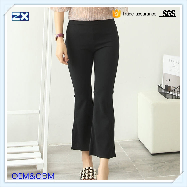 New design bell bottom cutting trousers woman with high quality