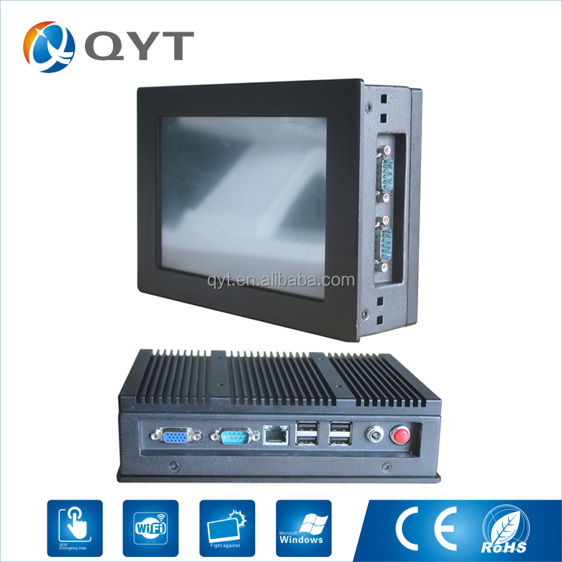 Reasonable price Atom N2800 touch screen 7 inch mini-itx case industrial fanless pc