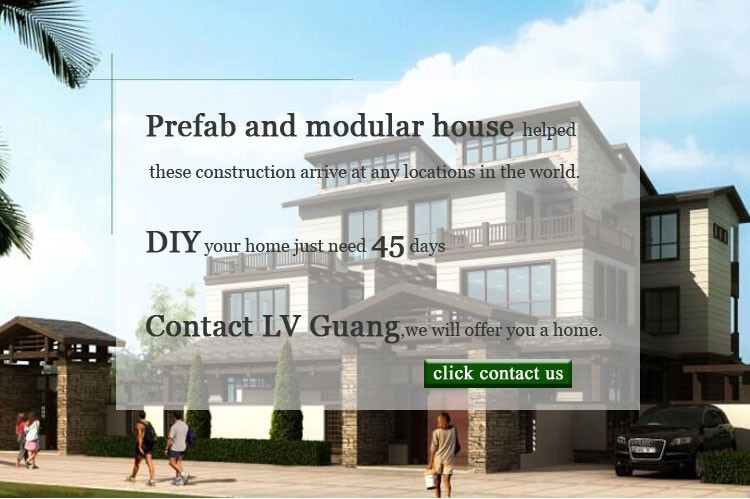 Fast Construction Light Steel Structure Prefabricated Wooden House villa
