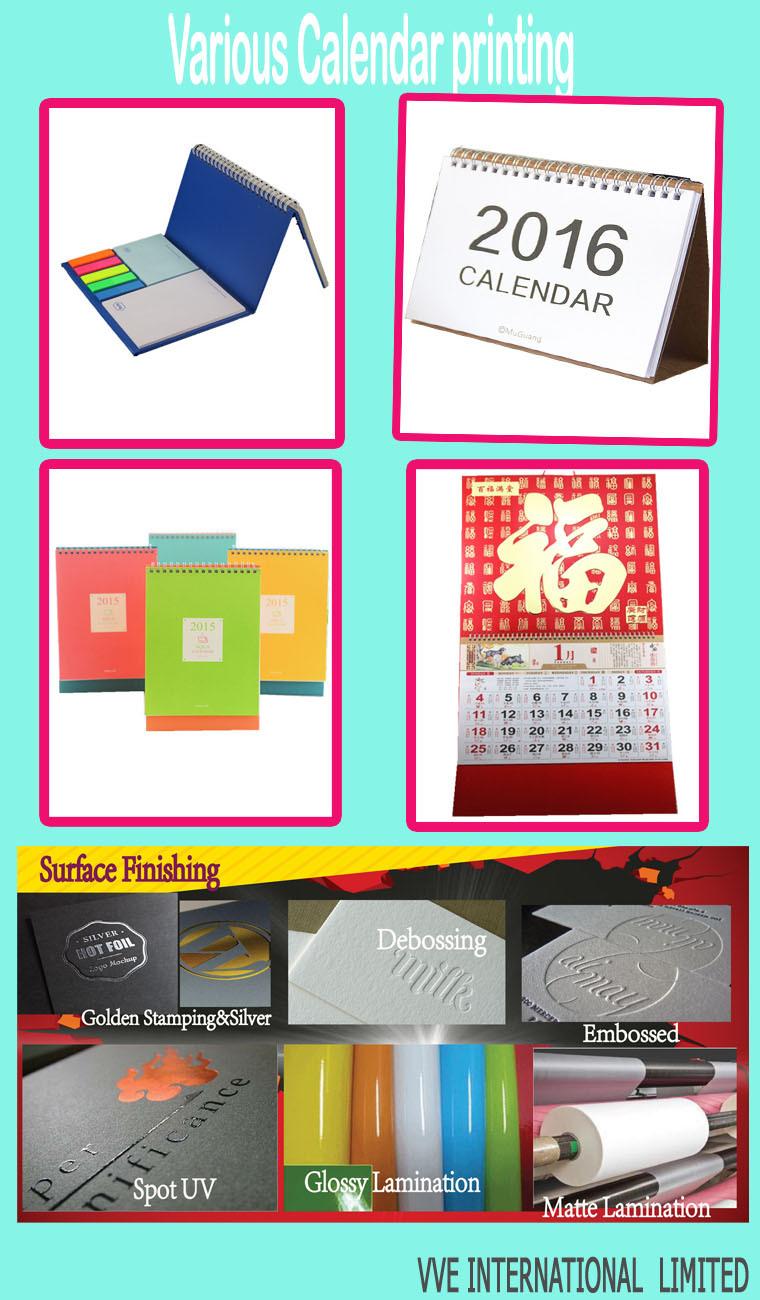 Paper Cardboard 2017 Year Stand Desk Calendar