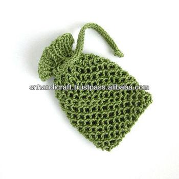 Sage Green Soap Saver Cotton Pouch Knit Soap Holder Buy Cotton
