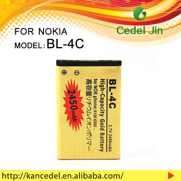 shenzhen factory 2450mAh high power mobile phone battery for Nokia BL-4C with good quality and good price