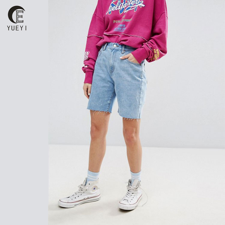 bf hot sexy photo long denim shorts women
