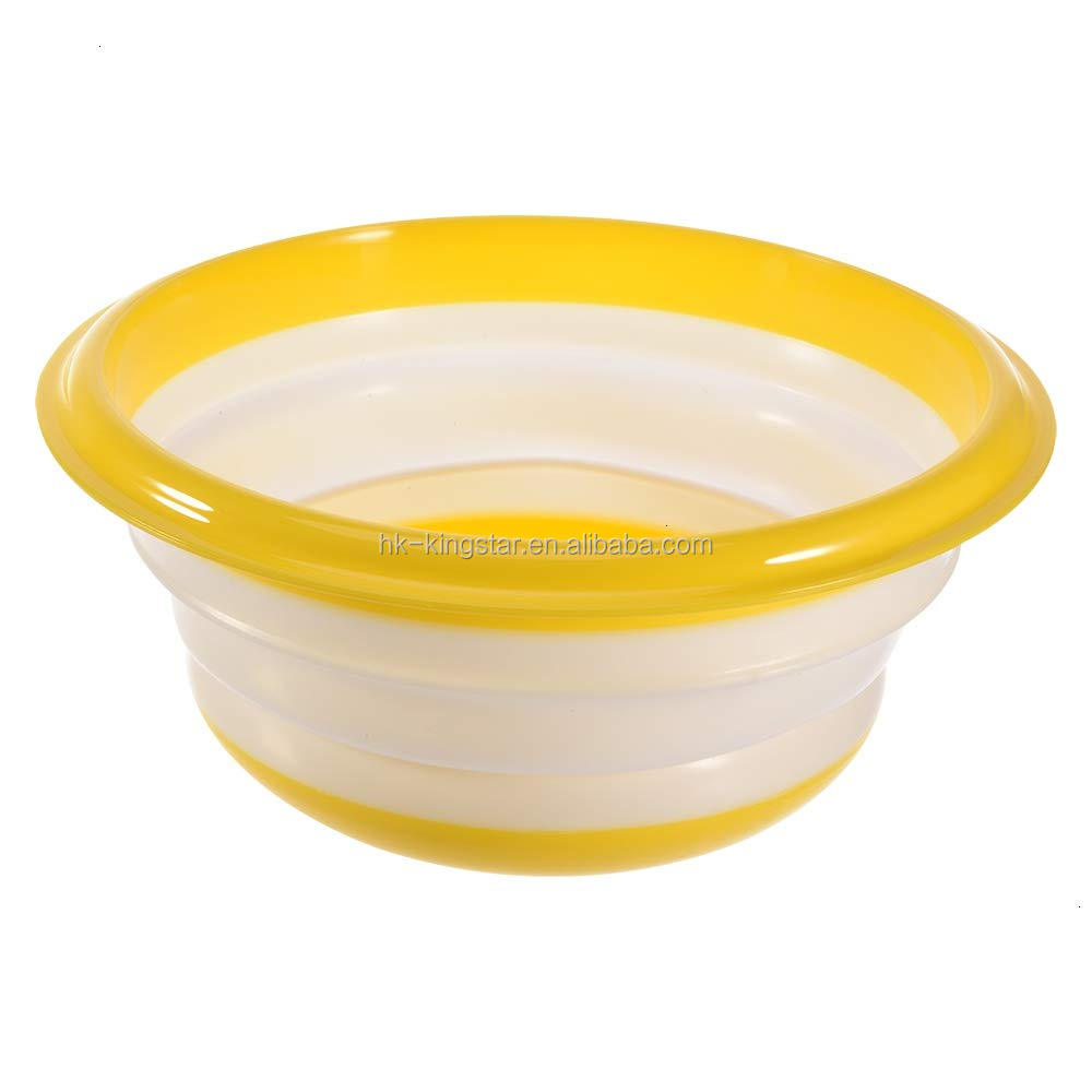Food grade wholesale microwave salad water collapsible silicone bowl