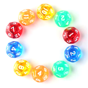 Polygon shape with good offer party game dice