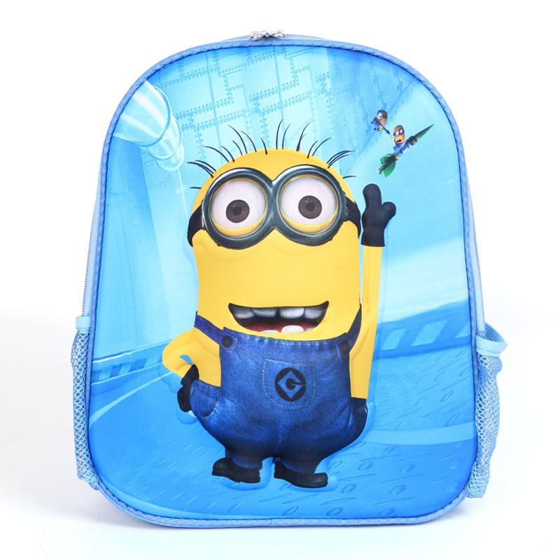 596d17cb9f4a 2015 Children School Bags For Little Boy Kids Cartoon Waterproof Backpacks  Spiderman Despicable Me Printing Childminding