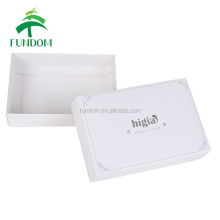 custom QR code printed hotest most popularly used online shopping cheap folding flat white paper square box with lid