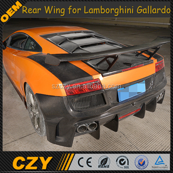 Trunk Wing Carbon D Style Rear Spoiler For Lamborghini Gallardo