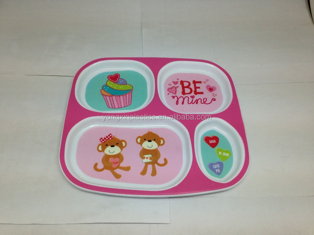Children's plastic microwave plate