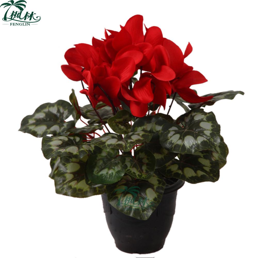 Cheap Artificial Cyclamen Flower Factory Artificial Flower For Sale
