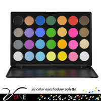 28 colors bright eyeshadow palette,free makeup samples cosmetics